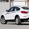 Auto Styling M Leistung Accent Streifen Seite Streifen Grafiken Taille Vinyl Aufkleber Aufkleber für BMW X4 M F26-in Autoaufkleber aus Kraftfahrzeuge und Motorräder bei