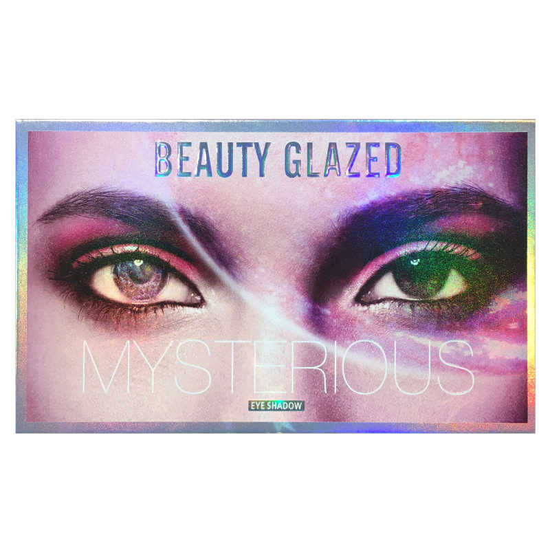 Güzellik sırlı 18 renk holografik göz farı paleti mat sedefli bukalemun Pigment göz farı paleti güzellik makyaj TSLM1
