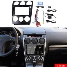 9Inch Car Stereo Fascia Panel Frame DVD Panel Bezel Frame Installation Trim Kit Fit for MAZDA 6 Atenza 2002-2016