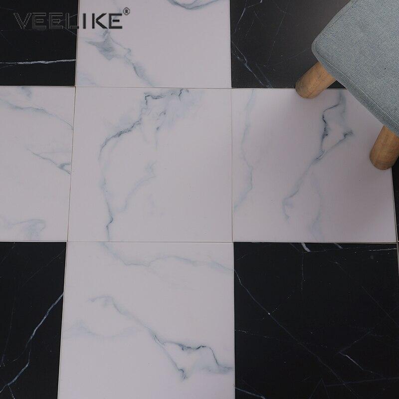 Thicken Marble Floor Decor Decals Living Room TV Backdrop Self Adhesive Wallpaper Bathroom Waterproof Wear-resistant Floor Patch