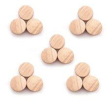 Wooden Knob Cabinet Drawer Cupboard Round for Shoe-Box 50x25mm 15pcs Home-Accessory