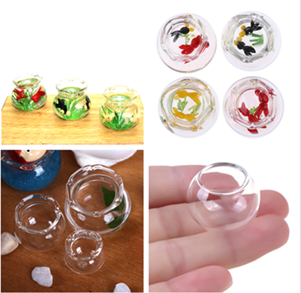 Mini Fish Tank DIY Resin Charms Tools Transparent Goldfish Tanks Handmade Jewelry Pendant Miniature Decor Stuff Glass Dome