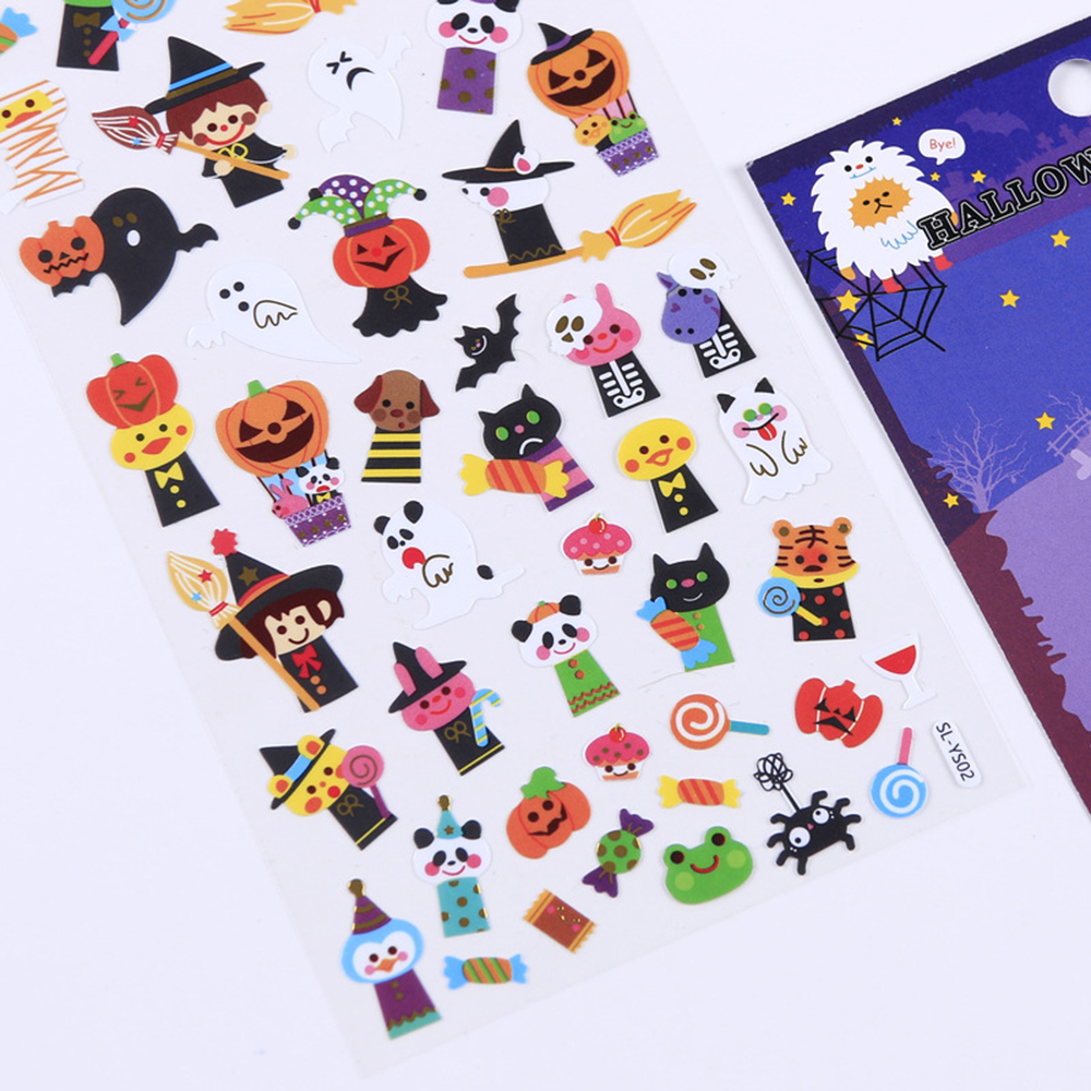 Купить с кэшбэком 1Pcs Fantastic Halloween Pumpkin Ghost Decorative Stickers Adhesive Stickers DIY Diary Stationery Stickers Children Gift
