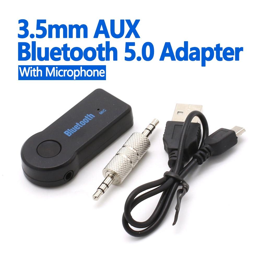 ANKNDO بلوتوث محول 3.5 مللي متر AUX استقبال سيارة لاسلكية الصوت Connetor بلوتوث 5.0 الموسيقى الارسال المتكلم BT5.0 دونغل