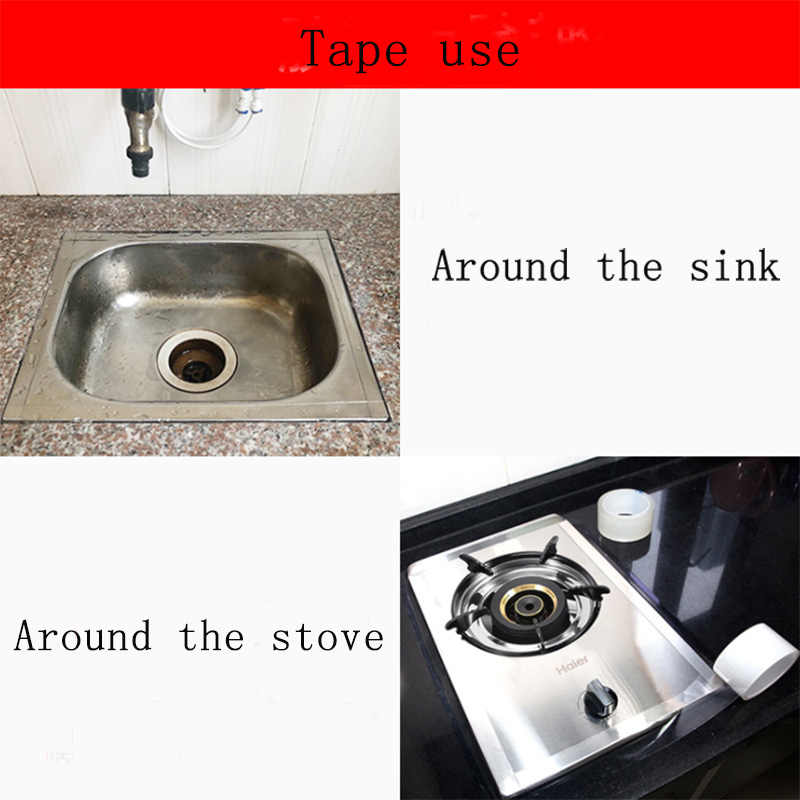 Kitchen Sink Waterproof Mildew Nano Magic tape Transparent Tape Bathroom Toilet Crevice Strip Self-adhesive Pool Water Seal(China)
