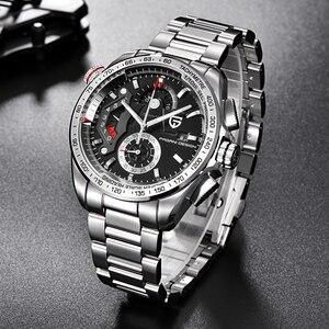 Image 3 - Luxe Merk Pagani Ontwerp Mode Chronograaf Sport Horloges Mannen Reloj Hombre Volledige Roestvrij Staal Quartz Horloge Klok Relogio