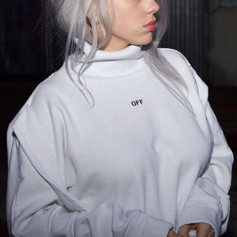 Billie Eilish OFF Hoodie Unisex Long Sleeve Pullover Hooded Sweatshirt Clothes Hip Hop Coat Pullover Men's Casual Tracksuits