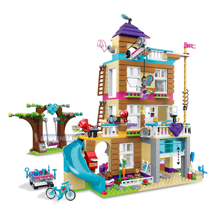 Girls Series Toys 740Pcs The Friendship House Model Blocks Set Compatible Legoes 41340 Building Blocks Bricks Educational Toys