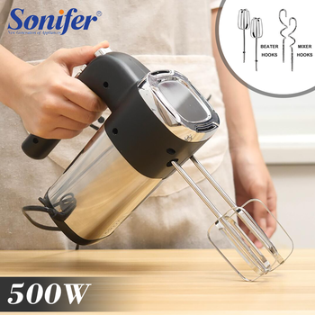 500W High Power Food Mixer  Electric Hand Blender Dough Blender Egg Beater Hand Mixer For Kitchen Appliances 220V Sonifer