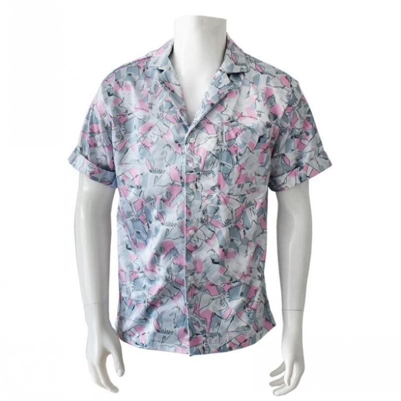 Stranger Things Season 3 Cosplay Hopper T-shirt Costume Short Sleeve Cotton Tee