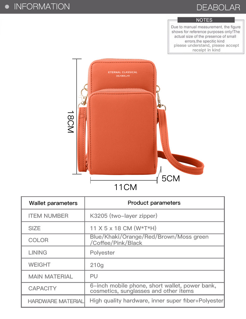 Phone Purse With Clear Window