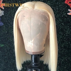 Firstwig 613 Blonde Brazilian Lace Front Human Hair Wigs T1B/613 Remy Hair Wig 13x4 Pre Plucked With Baby Hair 130 Density