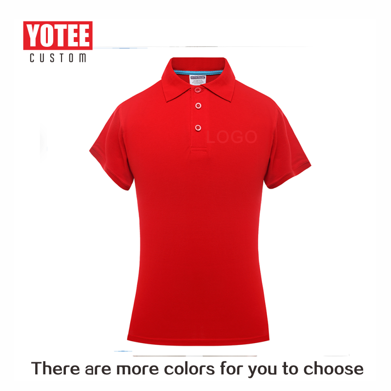 YOTEE 2019 Summer High Quality Casual Clothing Female Polo Suit Personal Company Group LOGO Custom POLO Shirt 100% Cotton Women