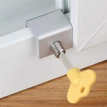 Children Security window Cable Limit Lock Window Sliding Stopper Door Restrictor Aluminum
