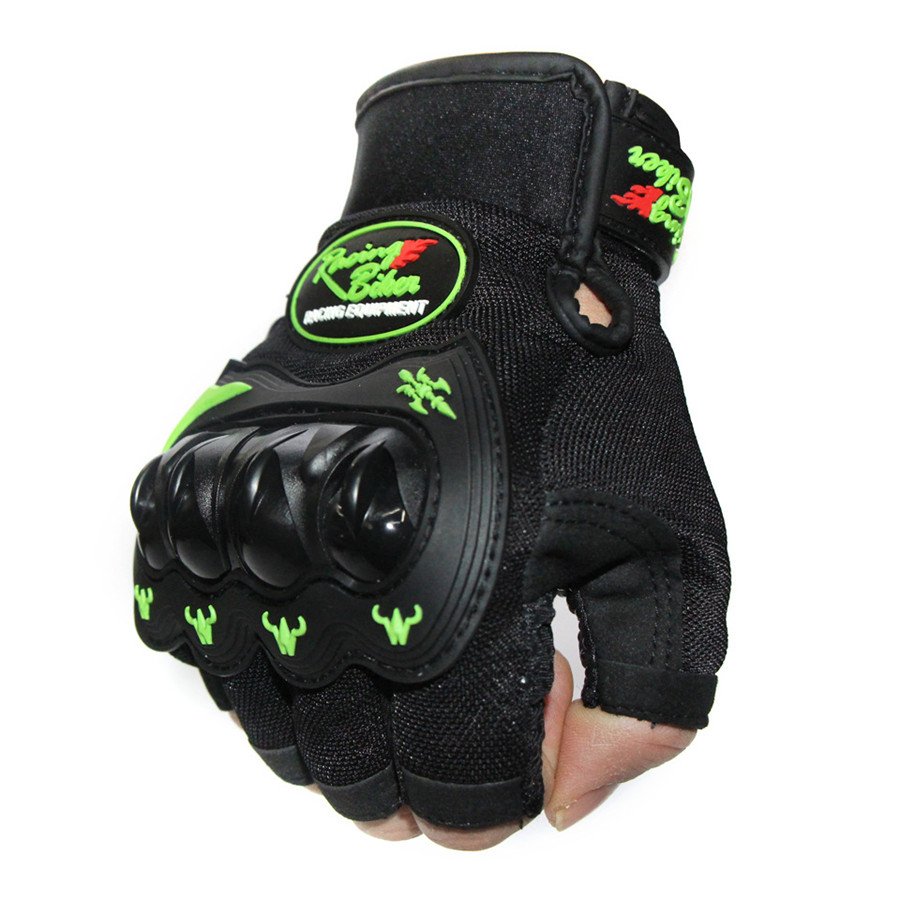 Cycling Half Finger Gloves Bicycle Tactical Gloves Riding Hand Protection Mitten Knight Style Shock Absorption Breathable
