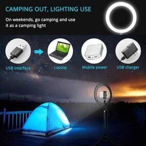Image 5 - Samtian lampada anello di 12 pollici anello di luce con il treppiedi HA CONDOTTO LA luce USB plug bluetooth selfie anello per youtube di trucco LED foto di anello di luce