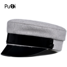 Pudi Woman real woof fur hat cap 2019 new winter baseball caps lady leather hats HL902 цена