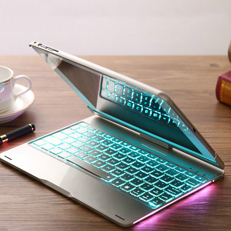 Smart <font><b>Keyboard</b></font> <font><b>Case</b></font> Cover For <font><b>iPad</b></font> Air 1 Air 2 9.7 inch With 7 Color Backlit Wireless Bluetooth <font><b>Keyboard</b></font> <font><b>Case</b></font> For 9.7