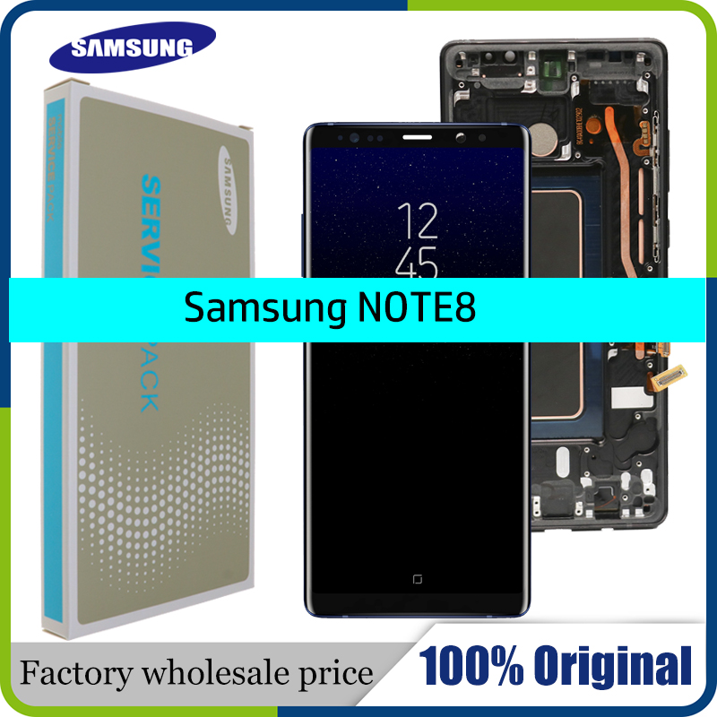 """New 6.3"""" Original SUPER AMOLED Display For SAMSUNG Galaxy NOTE8 LCD N950 N950F Display Touch Screen Replacement Parts+Frame