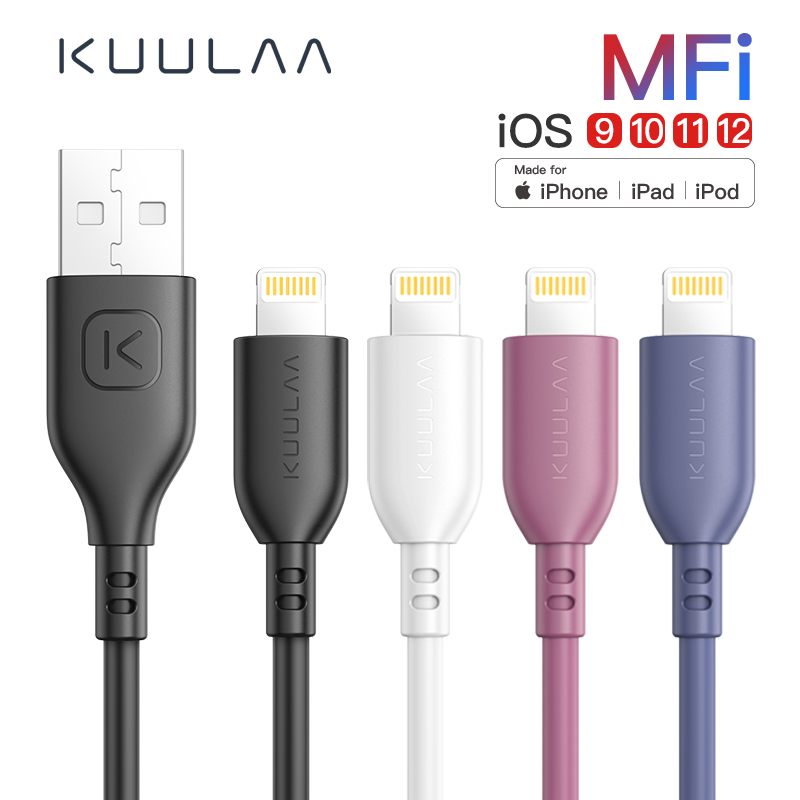 KUULAA MFi <font><b>Lightning</b></font> <font><b>Cable</b></font> For iPhone 11 Pro XS Max X XR Fast Charging USB Charger <font><b>Cable</b></font> For iPhone 8 7 6 Plus 5 USB Charge Cord image