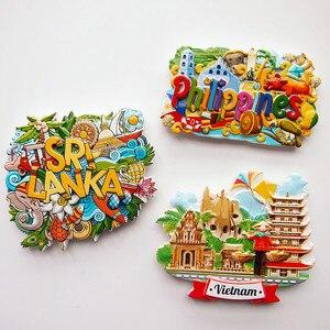 Сувениры для туризма из Вьетнама, магнитные магниты на холодильник из смолы, двери для украшения, сувениры для путешествий, сувениры, 3D магн...