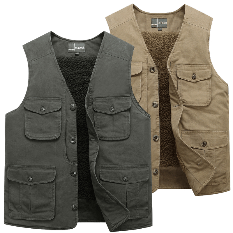 Men/'s Casual Photography Jacket Vest Multi-Pocket Spring Autumn Large Size HOT