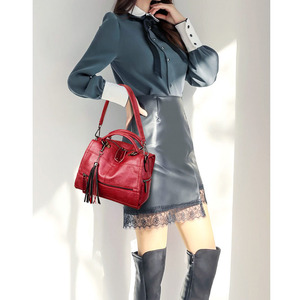 Image 5 - Tassel Multifunctional Women Bag Handbags High Quality PU Leather Large Capacity Shoulder Crossbody Bags For Women Sac A Main