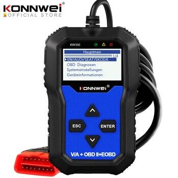 KONNWEI KW350 OBD2 Diagnostic Scanner for Car VAG VW Audi ABS Airbag Reset Oil Service Light EPB Diagnostic Tool Better VAG COM vag k can commander 1 4 obd2 диагностический инструмент сканер com кабель для audi skoda