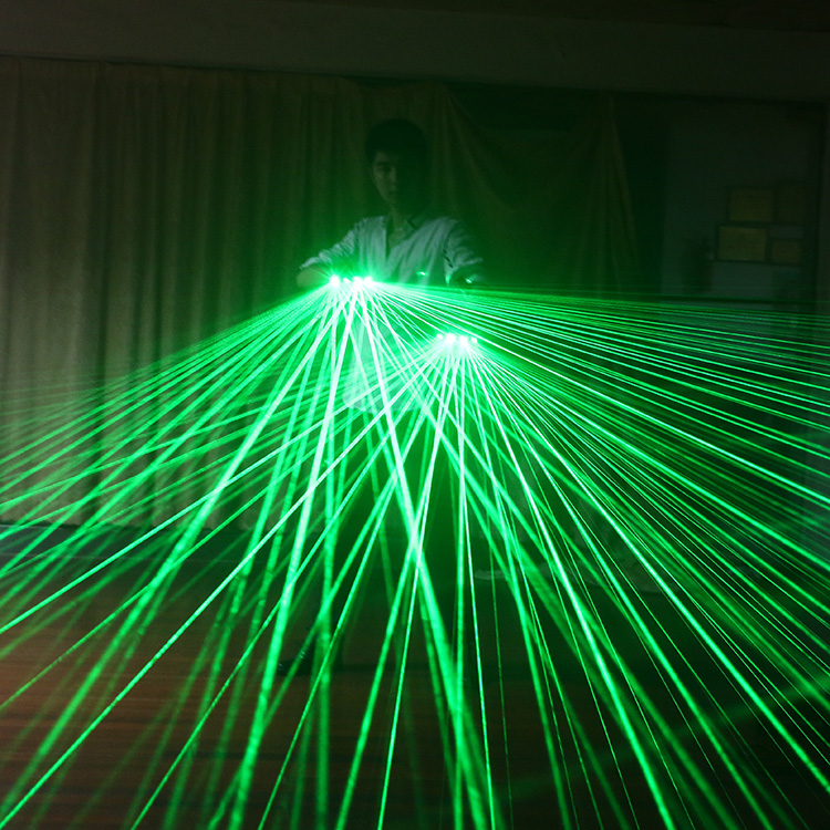 2019 New High Quality Green Laser Gloves Nightclub Bar Party Dance Singer Dance Props DJ Mechanical Gloves LED Light