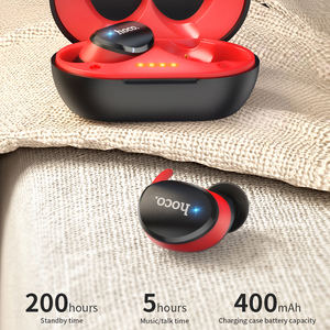 Image 4 - HOCO Professional Twins Mini 3D Stereo Sound Bluetooth 5.0 Earphone Invisible True Bass Wireless Sport Earbuds with Power bank