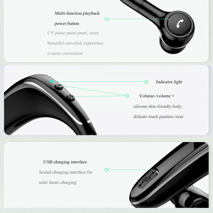 Image 5 - Kablosuz kulaklık Bluetooth kulaklık kulakiçi otomatik eşleştirme yükseltme ile IPX5 su geçirmez HD çağrı iş kulaklık Intkoot