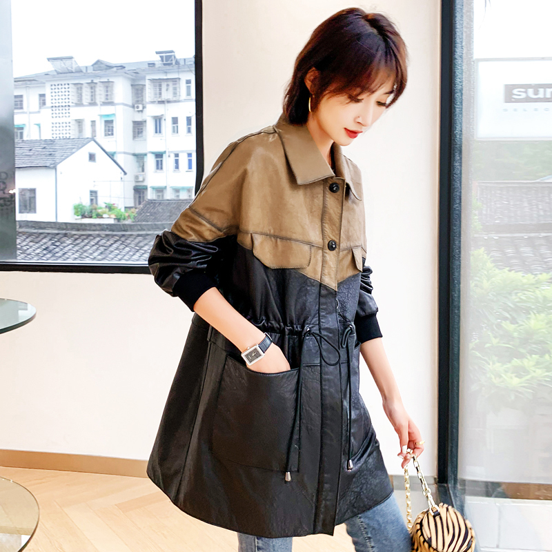 Genuine Leather Jacket Women Korean Vintage Spring Autumn Sheepskin Real Leather Jacket Women Clothes 2020 Slim 909 YY1739