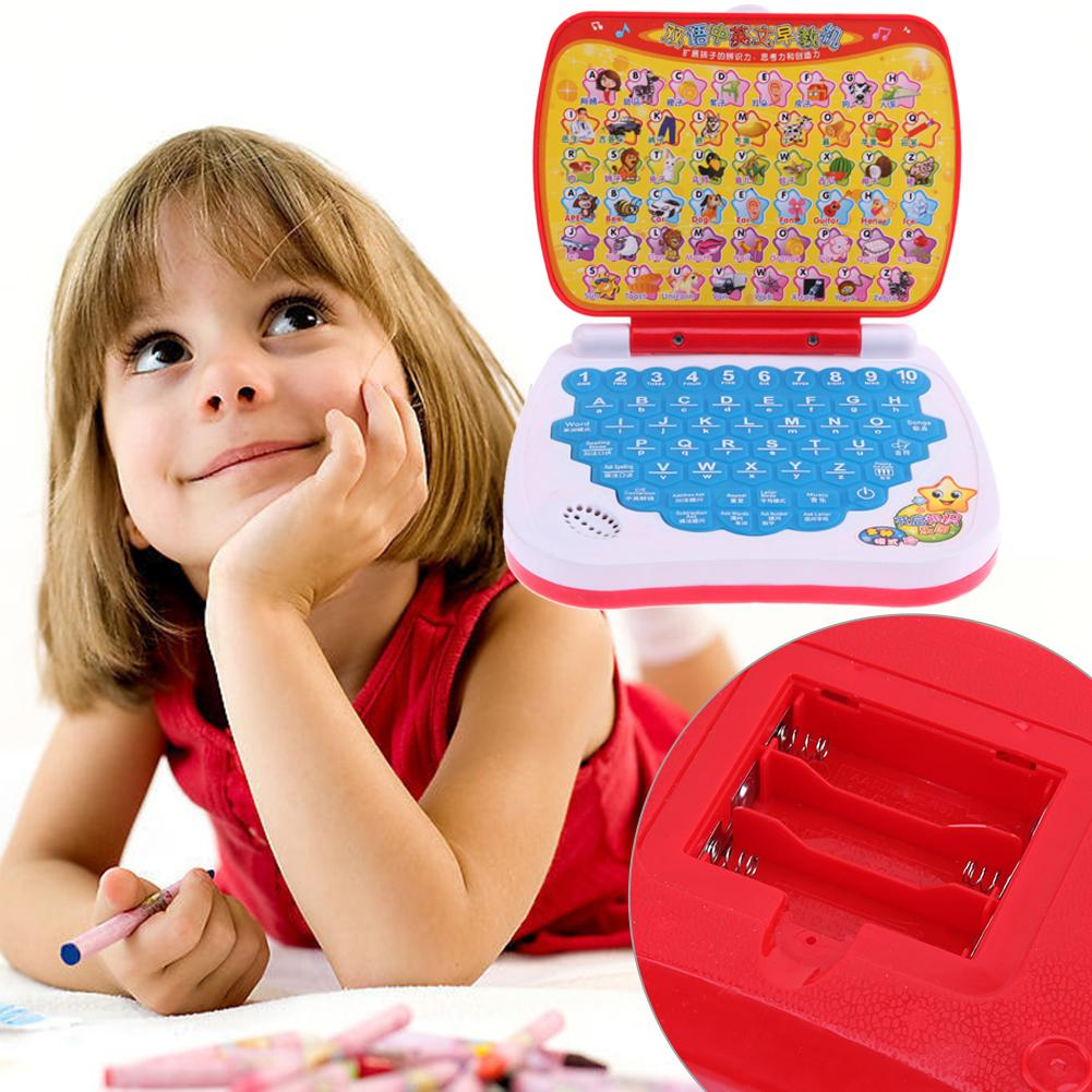 Chinese English Language Learning Machine Children Multi-function <font><b>Laptop</b></font> Computer Alphabet Pronunciation Early Educational <font><b>Toys</b></font> image