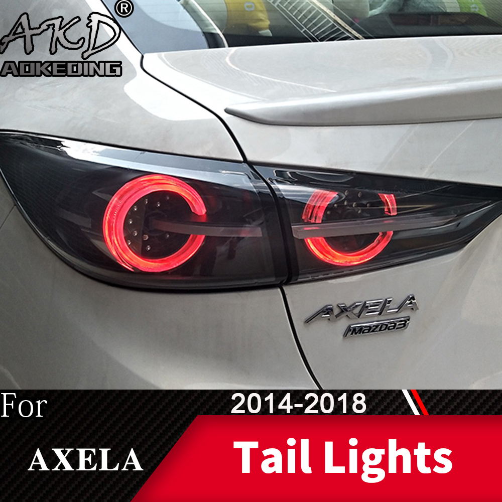 Tail Lamp For Car Mazda 3 2014 2018 Mazda3 Axela LED Tail Lights Fog Lights Daytime Running Lights DRL Cars Car Accessories