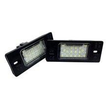2pcs LED License Plate Lights 6500K Accessories For Skoda Fabia MK1 6Y