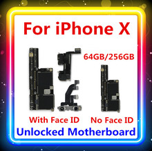 For IPhone X Motherboard With / NO Face ID 100% Tested Clean Free Main Board IOS Updated Facial Function 64G / 256G Good Working
