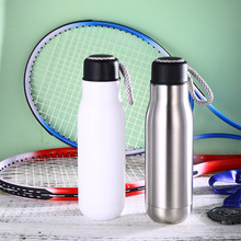 Hot sale 500ML Insulated Thermos  Cup 304 Stainless Steel Thermals Water Bottle Vacuum Flask Travel Coffee&Tea With Rope