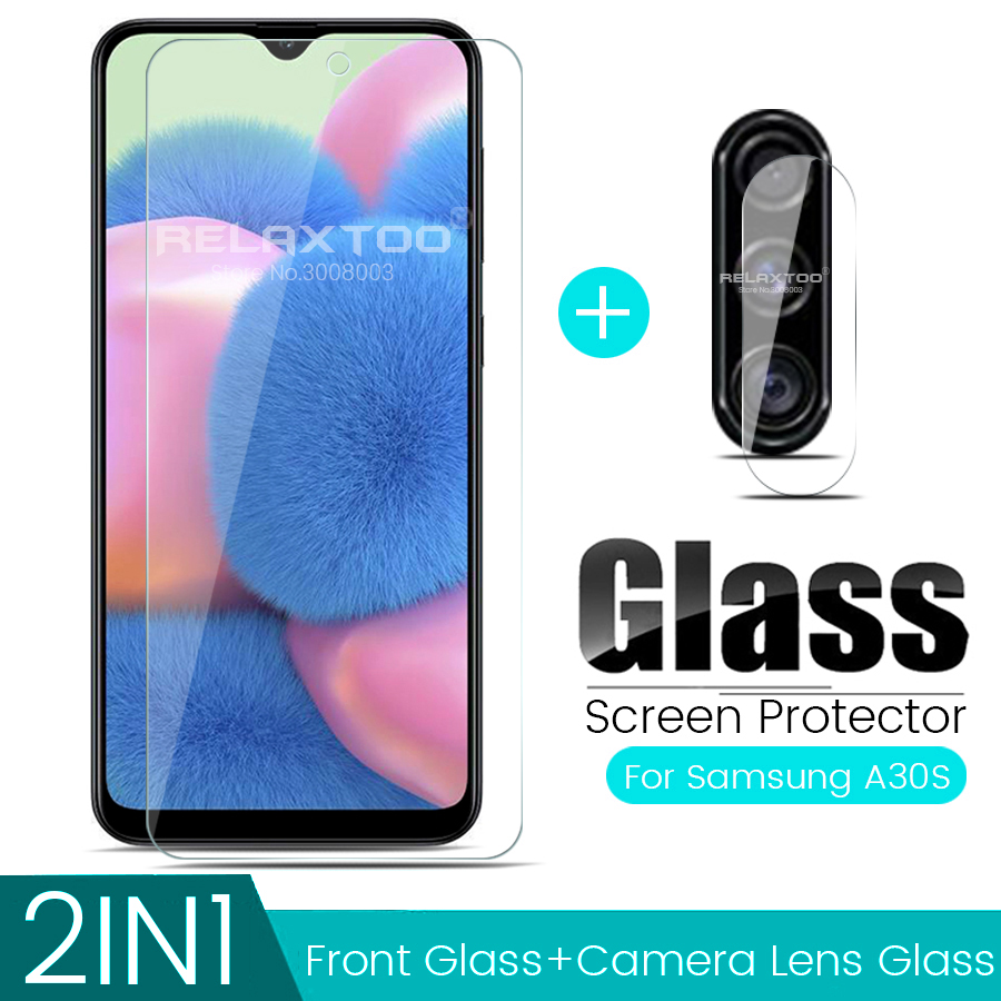 2-in-1 Camere Protector For Samsung Galaxy A30s Glass A 30s 2019 SM-A307FN 6.4'' Protective Lens Film Cover SamsungA30S Glasses