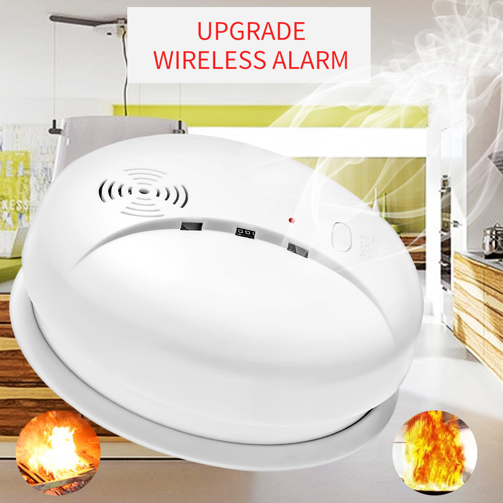Wireless Smoke Detector Alarm System Alarm Accessories Sensitive Smoke/Fire Detector For Home Security Alarm System|Smoke Detector| |  -