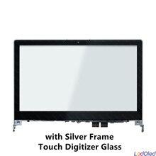 """14.0 """"لينوفو فليكس 2 14 20404 فليكس 2 14D 20376 FHD LCD عرض الجمعية شاشة تعمل باللمس لوحة محول الأرقام زجاج + الإطار"""