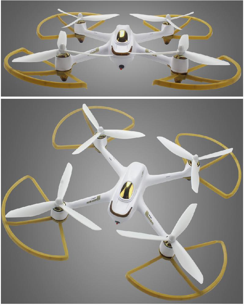 HobbyLane For HUBSAN <font><b>H501S</b></font> X4 <font><b>Parts</b></font> Set Propellers/ Protective Cover Accessories Spare <font><b>Parts</b></font> image