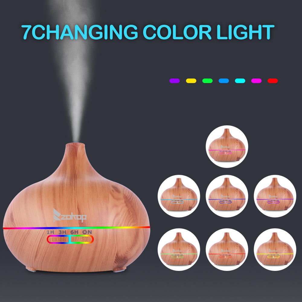 200mL 7 Color LED Lights RGB Essential Oil Aroma Diffuser with Controller USB Air Freshener Electric Oil Aroma DiffuserUS Plug