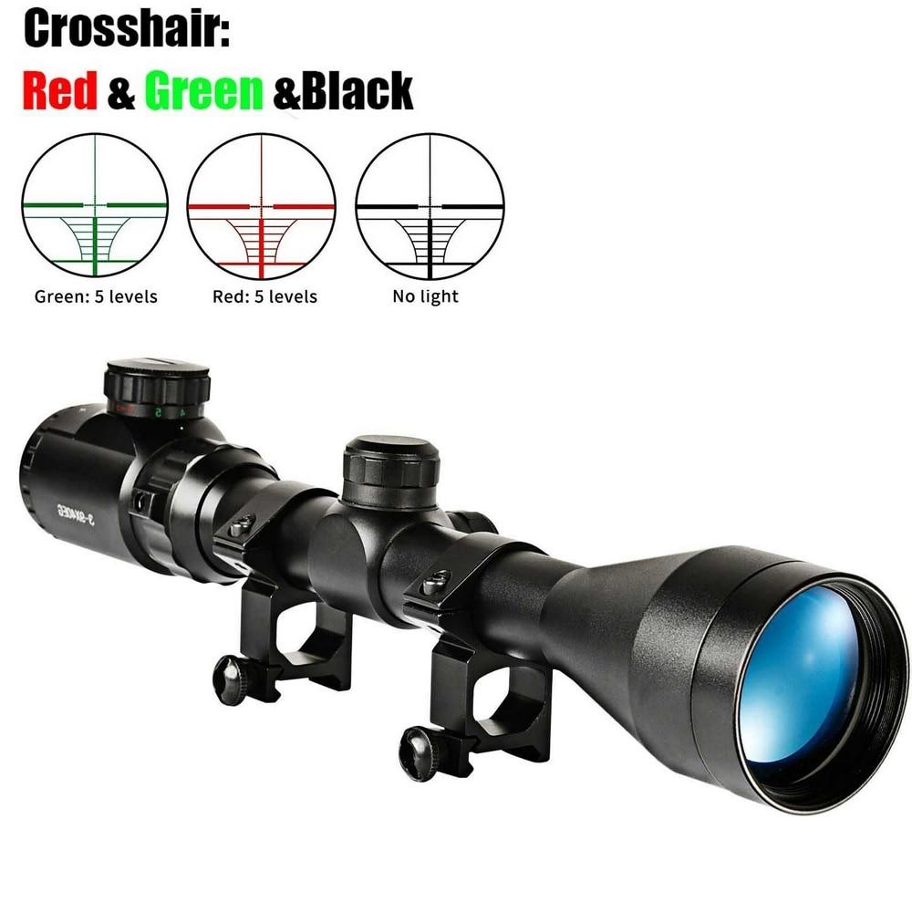3-9x40EG Optic Hunting Riflescope Met Rood/Groen Verlichte Voor Air Rifle Optics Jacht Sniper Scopes Sight W/Paar 21