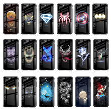 Marvel Batman Superman Spiderman Luminous Glass Case For