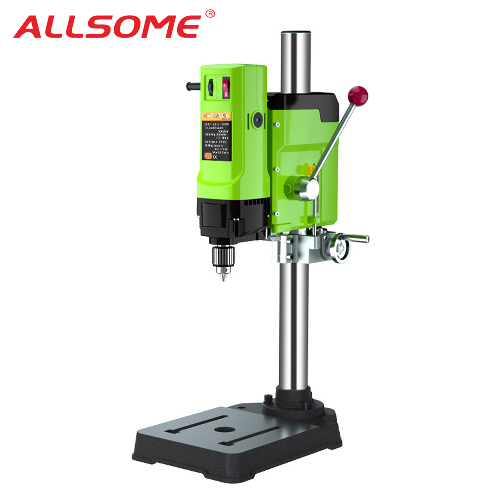 ALLSOME 1050W BG-5157 Bench Drill Stand Mini Electric Bench Drilling Machine Drill Chuck 3-16mm