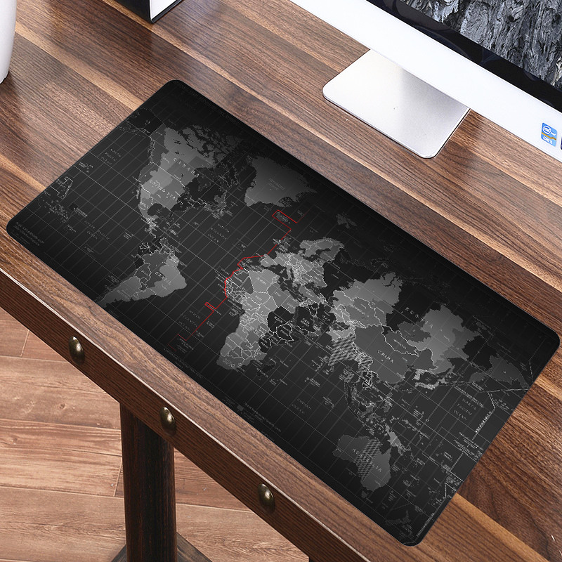 FFFAS Large World Map Mouse Pad Mat Office Game Full Size Map Of World Carpet Mousepad For Laptop Computer 60cm 80cm 100cm 120cm
