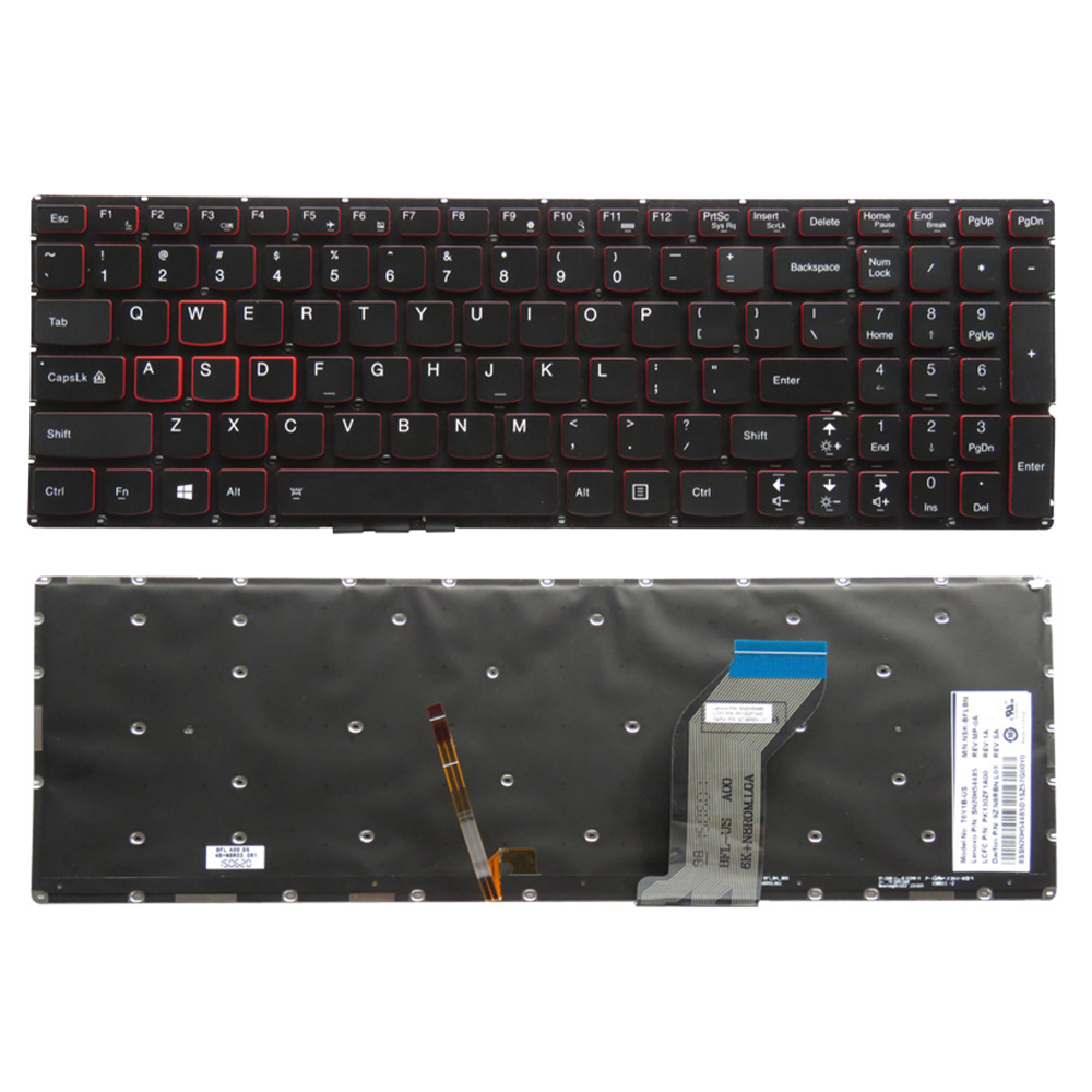 New for <font><b>Lenovo</b></font> Ideapad <font><b>Y700</b></font> <font><b>Y700</b></font>-15 <font><b>Y700</b></font>-15ISK <font><b>Y700</b></font>-15ACZ <font><b>Y700</b></font>-17ISK <font><b>Y700</b></font>-15ISE English US backlit <font><b>laptop</b></font> keyboard SN20H54489 image