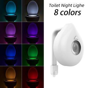 Toilet-Light Wc-Lamp Battery-Powered Smart-Motion-Sensor Changeable Backlight 8-Colors