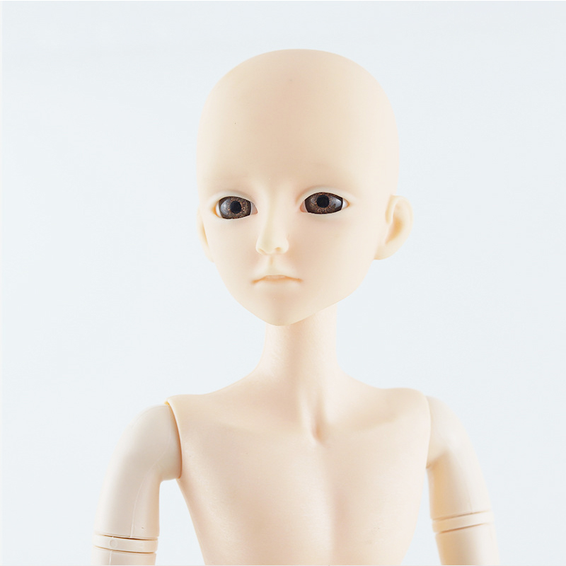 New 60cm Male Doll 21 Movable Jointed BJD Dolls Toys With 3D Eyes DIY Naked Nude Head Doll Body Bjd Dolls Toy For Girls Gift