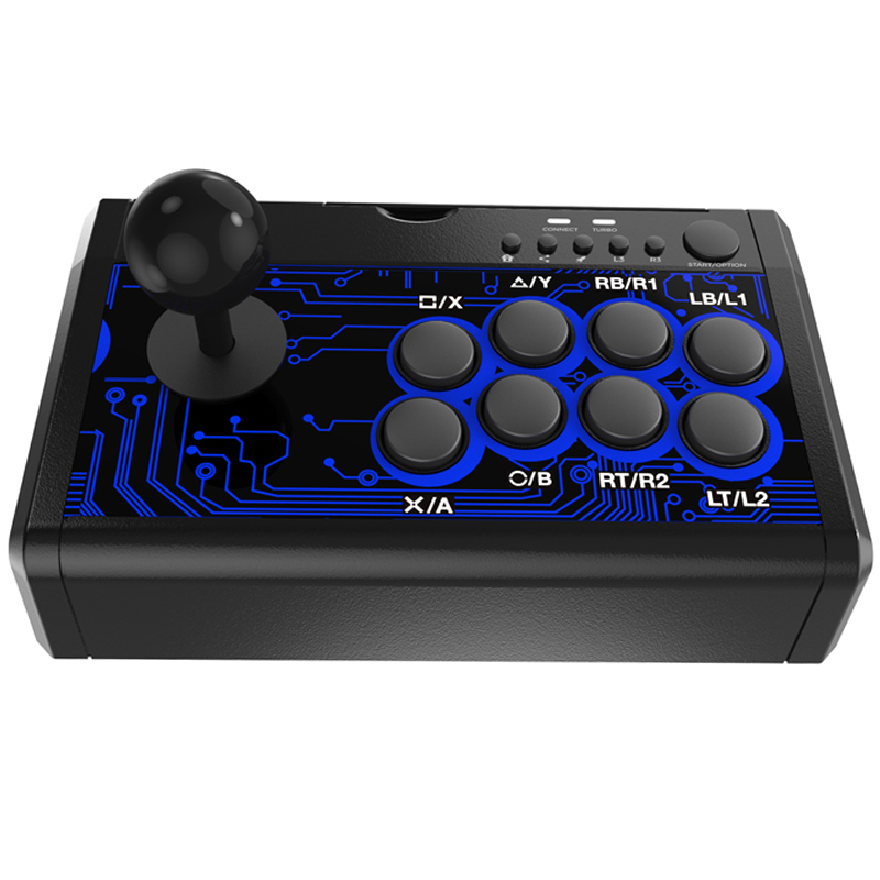 Hot 3C-7-In-1 Arcade Fighting Wired Rocker Game Console Game Handle For Switch / PS4 / PS3 / Xbox / PC / Tp4-1886